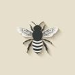 Obrazy na płótnie, fototapety, zdjęcia, fotoobrazy drukowane : bee insect icons