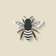 bee insect icons
