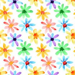 Watercolor flowers seamless