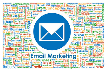 Illustrator of Email Marketing for Business Concept