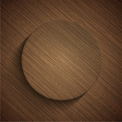 Vector modern wooden icon
