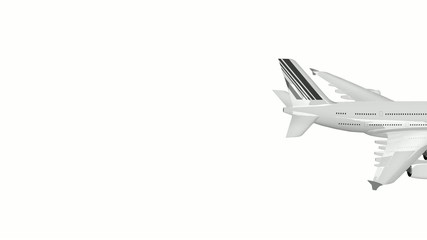 Airplane on White background With Alphax