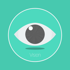 "Vision : Vector ""eye"" icon flat design"