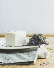 Cheese with lavender