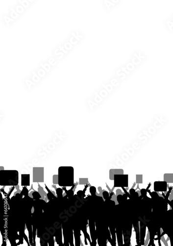 Leinwanddruck Bild Demonstration