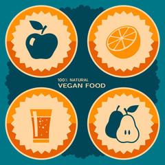 Vegan food poster design