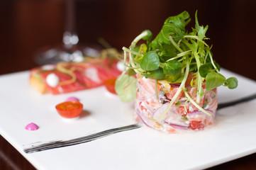 salmone affumicato e seviche