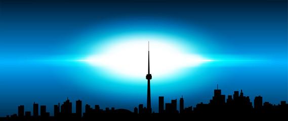 skyline, collegamenti, mondo, internet, energia