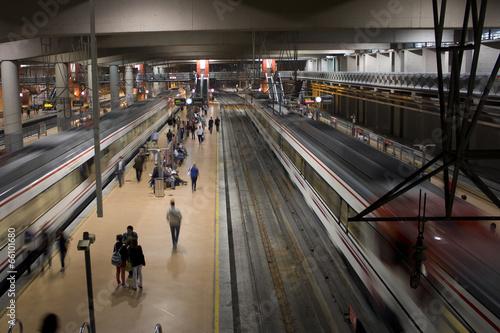 Fotobehang Treinstation Estacion de Atocha