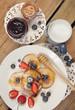 Pancakes and milk