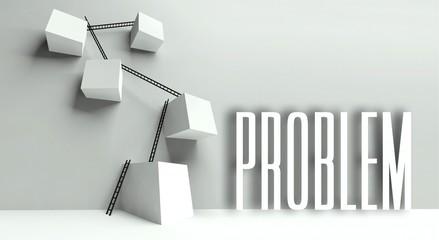 Business problem metaphor conceptual illustration
