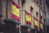 balconies with Spanish flags, Spain
