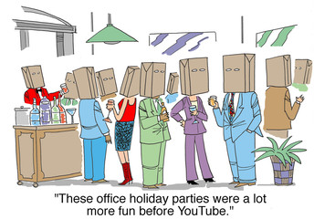 """These office holiday parties were more fun before..."""