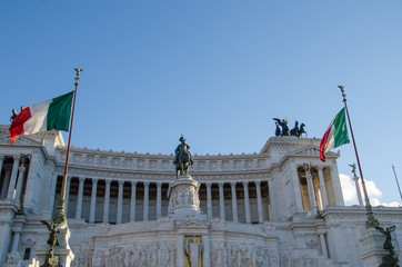 Sculptures at the Monument of Vittorio Emanuelle II