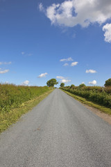resurfaced country road