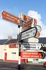 Ireland sign post