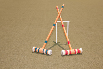Two Croquet Mallets