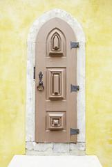 Old wooden door in Sintra