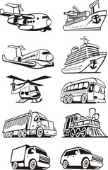 vehicles for the transport of passengers and cargo