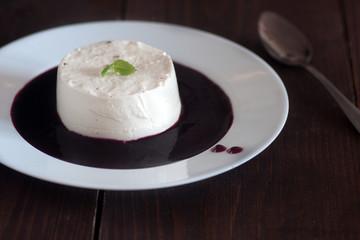 Italian dessert panna cotta