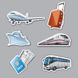 travel stickers - 66109486