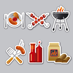 barbecue stickers