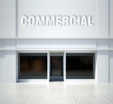 Shopfront window commercial, front view poster