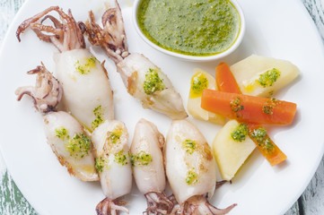 Grilled squid series 06