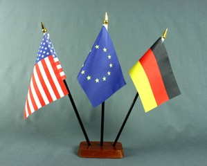 Table Flag germany uno usa