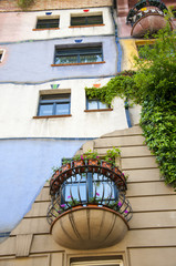 Hundertwasser House in Vienna, Austria