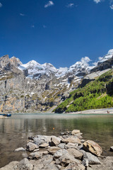 Oeschinen Lake in Switzerland
