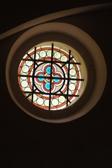 stained glass church round