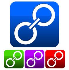 Chain icon, clip-art.