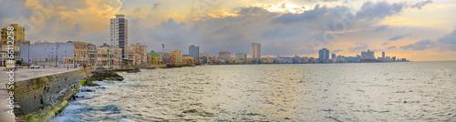 Fotobehang Centraal-Amerika Landen Havana Malecon Panorama