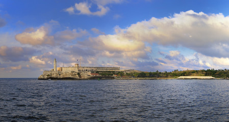Morro fortress in Havana bay panorama