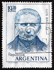 Postage stamp Argentina 1976 Louis Braille, Educator and Invento