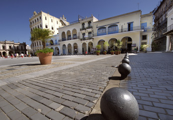 Plaza Vieja square in Old Havana
