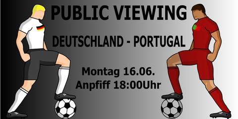 Deutschland Portugal Public Viewing