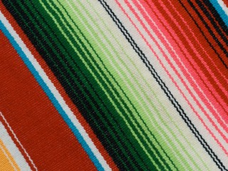 Mexican poncho - detail of the fabric