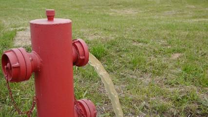 fire hydrant open