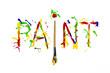 Colorful paint splash painted word paint