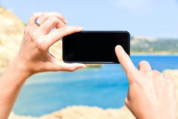 Smartphone am Meer