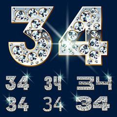 Ultimate alphabet of diamonds and platinum ingot. Numbers 3 4