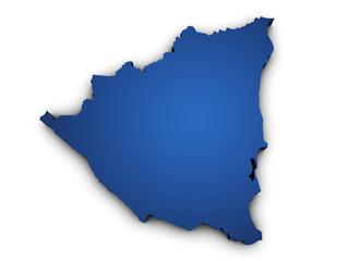 Map Of Nicaragua 3d Shape