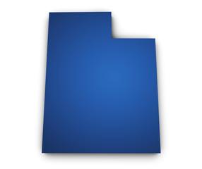 Map Of Utah 3d Shape