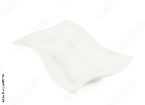 White ceramic plate isolated