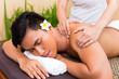 Indonesian Asian man at wellness massage