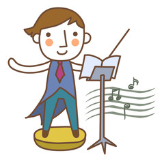 Illustration of a musician