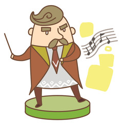Illustration of a musician