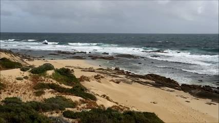 Waves Breaking on a Rocky Indian Ocean Beach